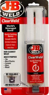 best glue for glass crafts - J-B Weld