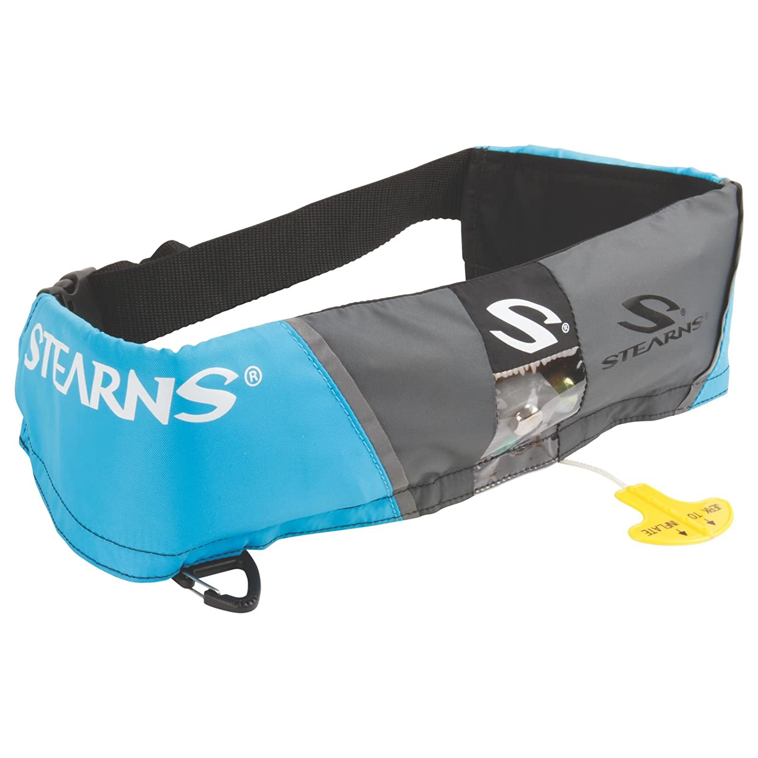 Amazon.com : Stearns 16 Gram Manual Belt Pack The waist belt inflatable personal flotation device we utilize – mainly used with our stand-up paddle board or riding in the dinghy.