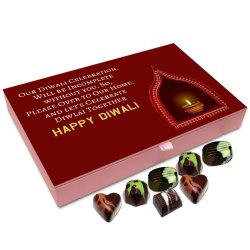 Chocholik Diwali Gift Box – Diwali Celebration is Incomplete Without You Chocolate Box – 12pc