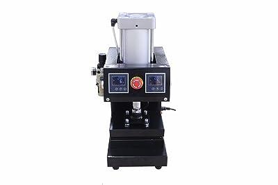 "8"" x 6"" Pneumatic Rosin Heat Press Dual Element Heating, solventless"