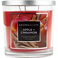 Aromascape PT41129  3-Wick Scented Jar Candle, Apple & Cinnamon,14 Ounce