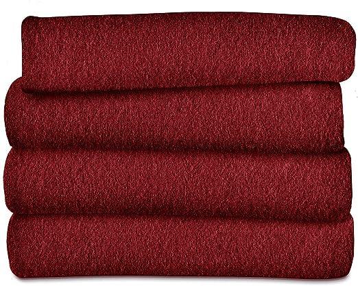 Amazon Com Sunbeam Heated Throw Blanket Fleece 3 Heat Settings Garnet Tsf8us R310 31a00 Home Kitchen