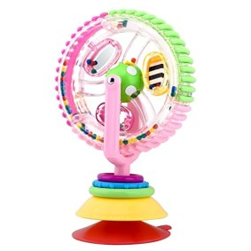 Zooawa Rotating Ferris Wheel Toy, Soft Silicone Spinning Discover Ferris Wheel Play Toys with Suction Base, Suitable for Over One Year Old Baby Infant, Colorful