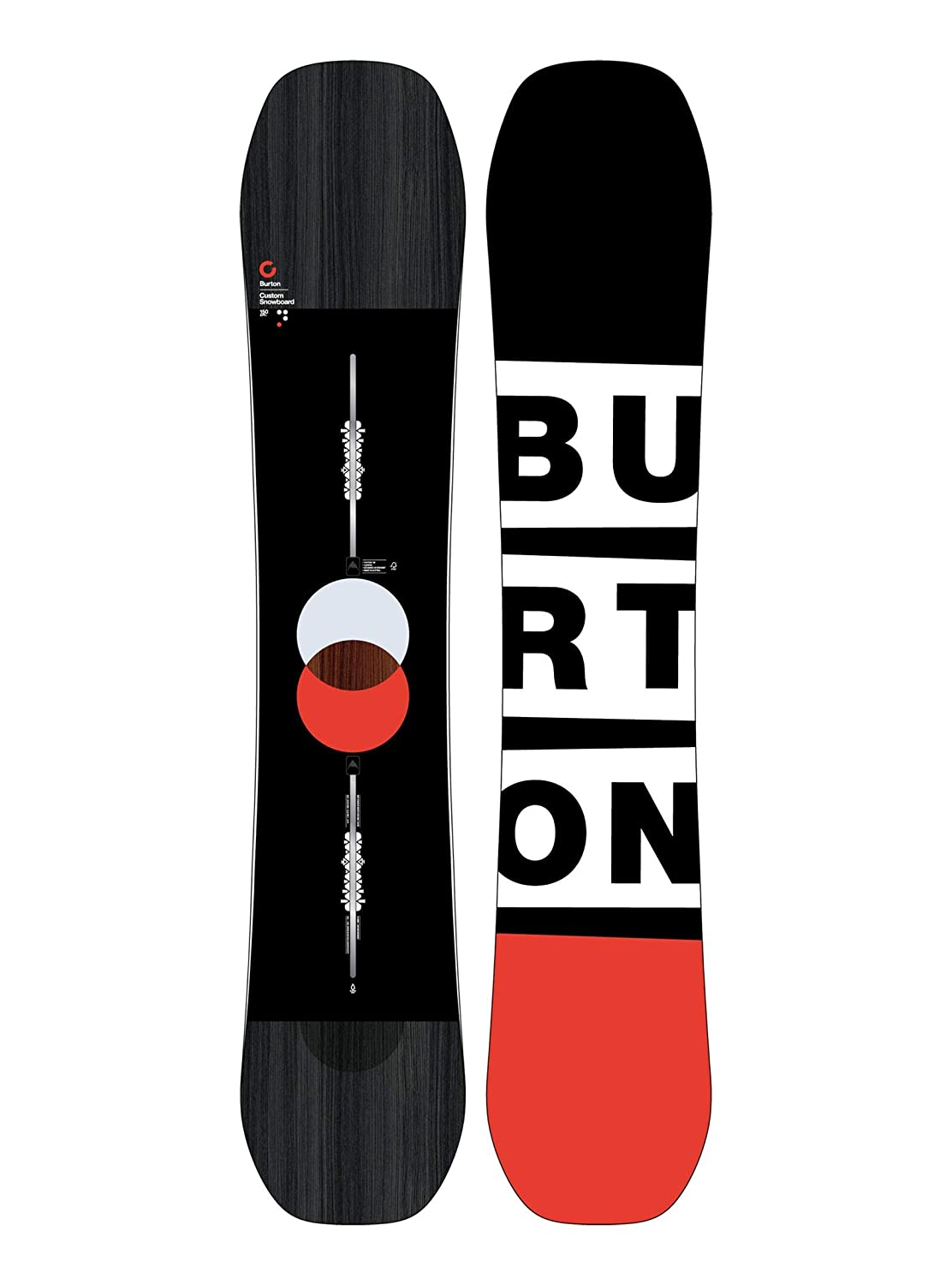 Burton flying v top and bottom graphics view