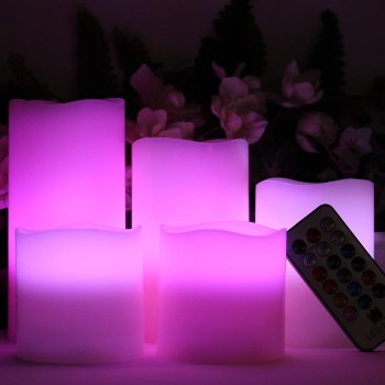 flameless candles   pink