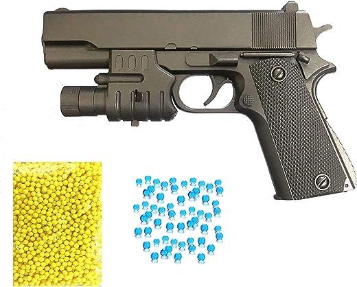 Supreme Deals® 2 in 1 PUBG's Soft Water Bullets Toys Gun with Case and Laser , Safe Sport Gun Weapon Pistol Gunshot Outdoor Game Toy for Children. (Mini Pub-G Gun)