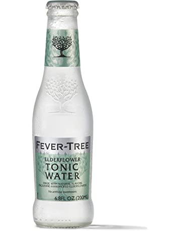 Fever-Tree Handpicked Elderflower Tonic Water Glass Bottles, No Artificial Sweeteners, Flavorings & Preservatives, 6.8 Fl Oz (Pack of 4)