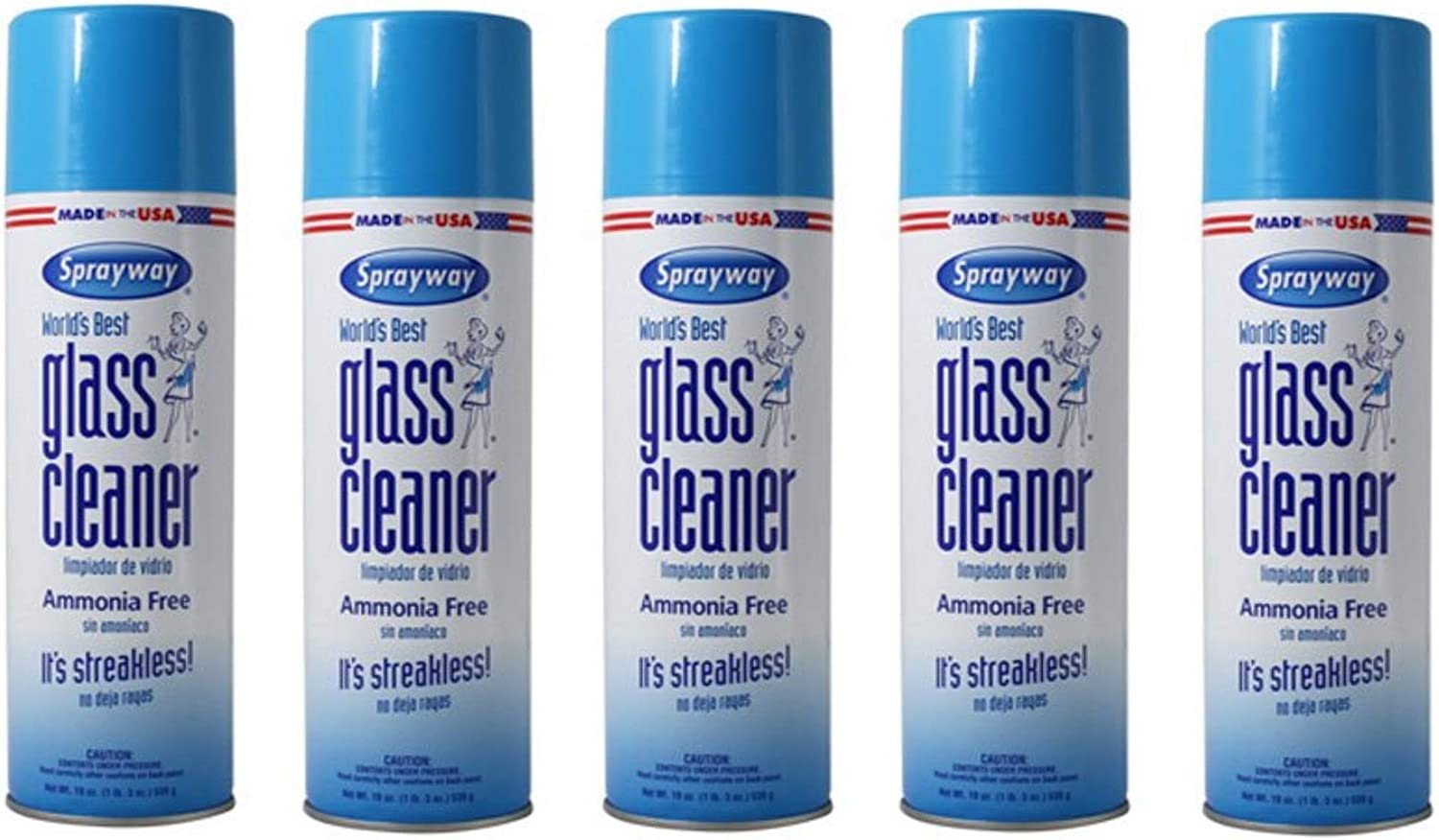 Amazon Com Sprayway Glass Cleaner Aerosol Spray 19 Oz 5 Pack Health Personal Care