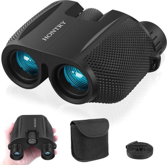 Binoculars for Adults and Kids, 10x25 HD Compact Binoculars for Bird Watching by Hontry