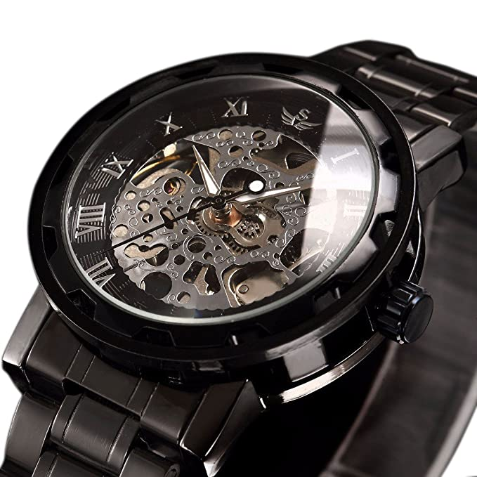 Reloj de lujo negro para hombrehttps://amzn.to/2C7iM2L