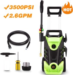 homdox 3500 psi electric pressure washer