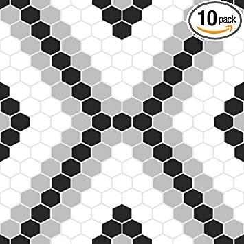 Floorpops Fp2950 Leyton Peel Stick Floor Tile Black Amazon Com