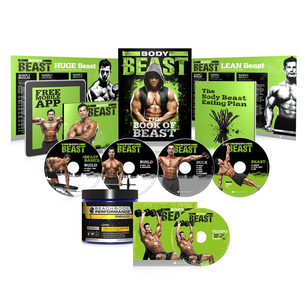 Body Beast Deluxe Kit w/ Beachbody Performance