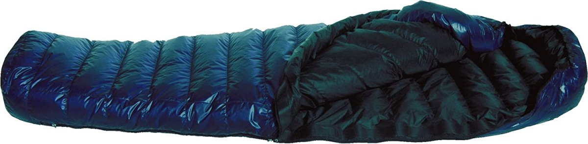 Western Mountaineering MegaLite 30 Degree Sleeping Bag Navy Blue 5FT 6IN / Right Zip