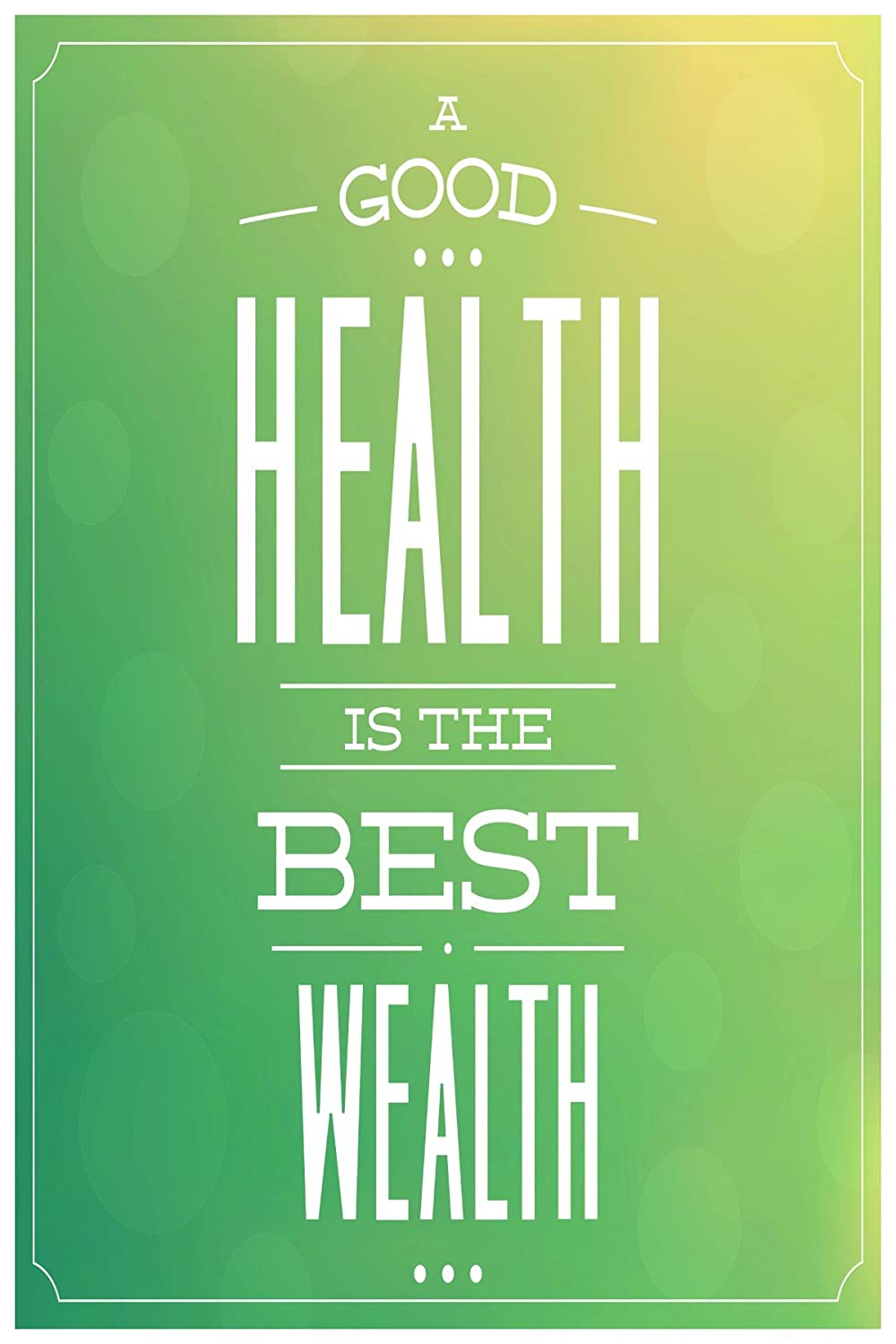 Casperme Health Is Wealth Motivational Quote 300 Gsm Print Poster 13 X 19 Inch Amazon In Home Kitchen