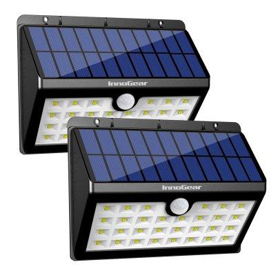 InnoGear Solar Lights 30 LED Wall Light for Garden Back Door Step Stair Fence Deck Yard Driveway