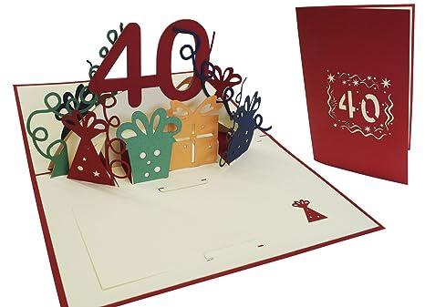 Lin Pop Up 3d Biglietto Dauguri Per Compleanno Happy