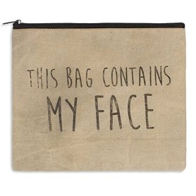 "Rustic ""My Face"" Travel Toiletry Bag"