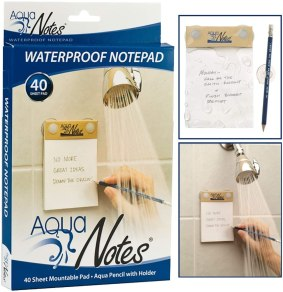 waterproof notepad can be a good gift for writers