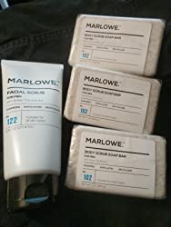 MARLOWE. No. 102 Men's Body Scrub Soap 7 oz | Best Exfoliating Bar for Men | Made with Natural Ingredients | Green Tea Extract | Amazing Scent Customer Image 1
