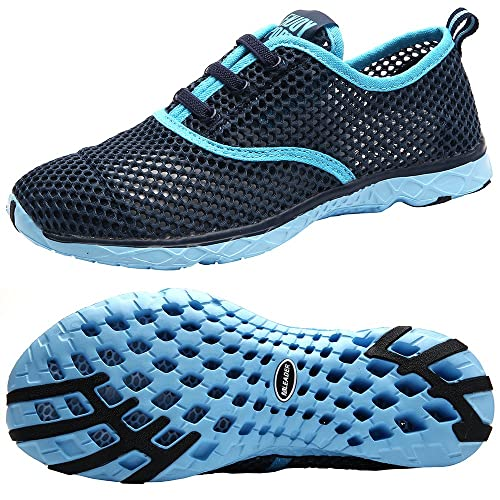 Aleader Women's Quick Drying Aqua Water Shoes, Blue 9 D(M) US