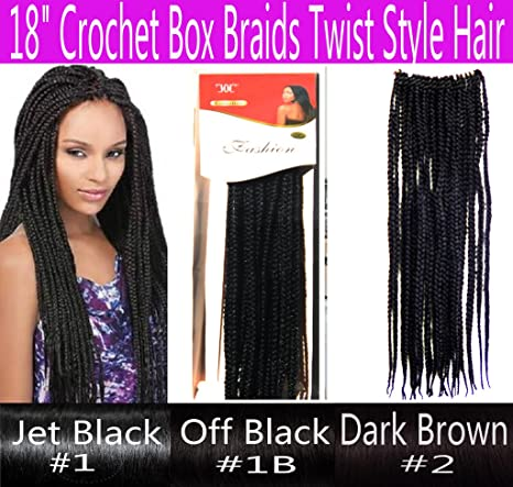 "18"" Hand Crochet Braids Hair Box Braid Style Senegalese Extension"