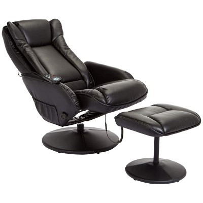 JC Home Drammen Massaging Leather Recliner