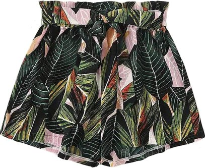 MAKEMECHIC Women's Plus Loose Elastic Waist Leopard Print Summer Casual Beach Shorts