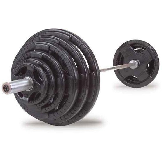 Rubber Grip Olympic Weight Set