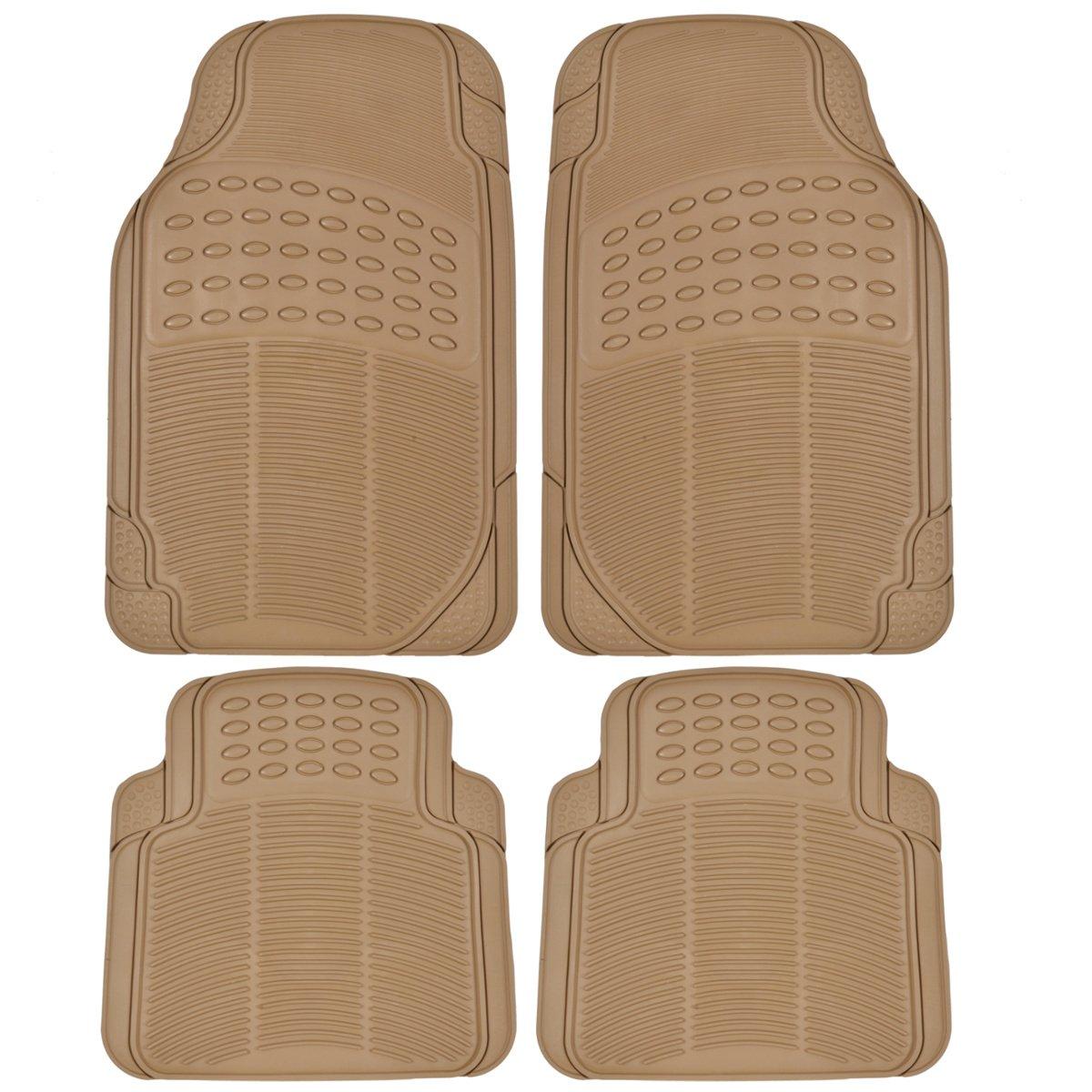 Best Floor Mats Reviews BDK Universal Fit 4-Piece Heavy Duty All Weather Protection Floor Mat - Rubber