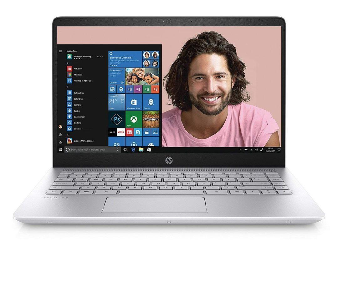 "[Ancien Modèle] HP Pavilion 14-bf003nf Ultrabook 14"" Full HD (Intel Core i5, 6 Go de RAM, 1 to + SSD 128 Go, Nvidia GeForce 940MX, Windows 10) Argent"