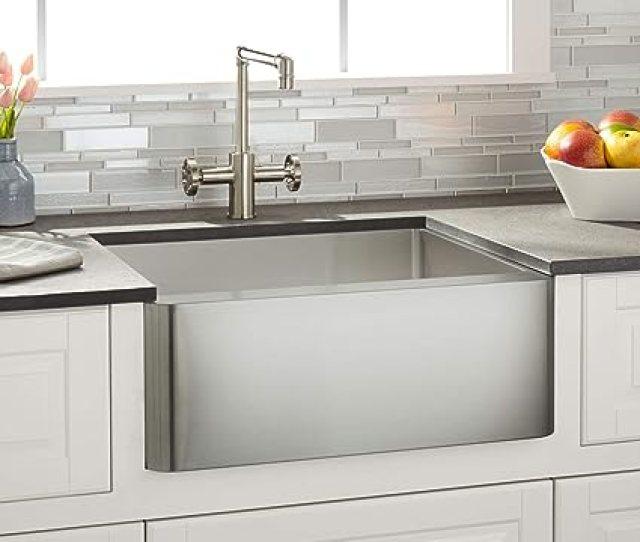 Signature Hardware  Single Basin Stainless Steel Farmhouse Sink Amazon Com