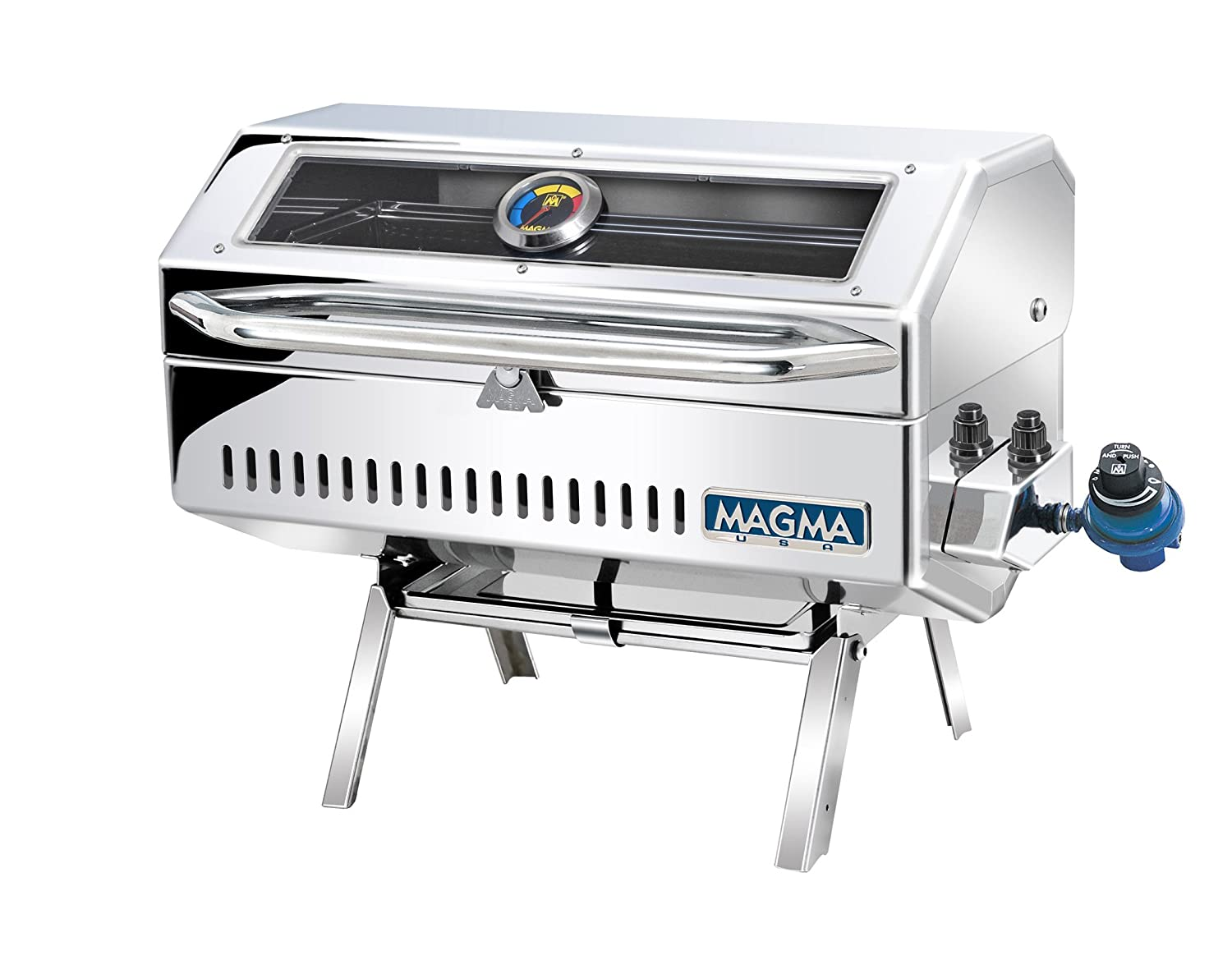 Amazon.com : Magma Newport 2 Infra Red Gas Grill The marine grill we use on our boat, it attaches to one of the fishing reel holders.