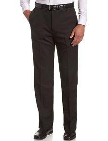 Image result for Haggar Men's Cool 18 Hidden Expandable-Waist Plain-Front Pant