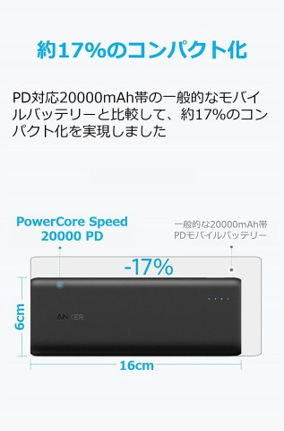 Anker PowerCore Speed 20000 PD 世界最軽量