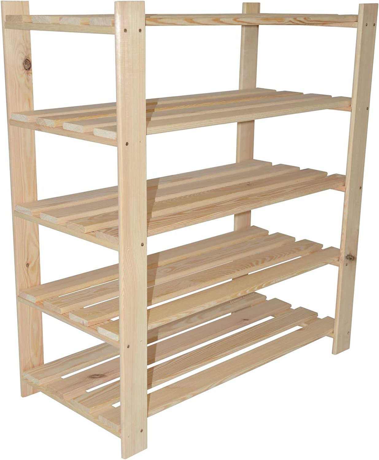 90 X 80 Cm X 37 Cm With 5 Shelves Small Wooden Shoe Rack Shelf Amazon Co Uk Diy Tools