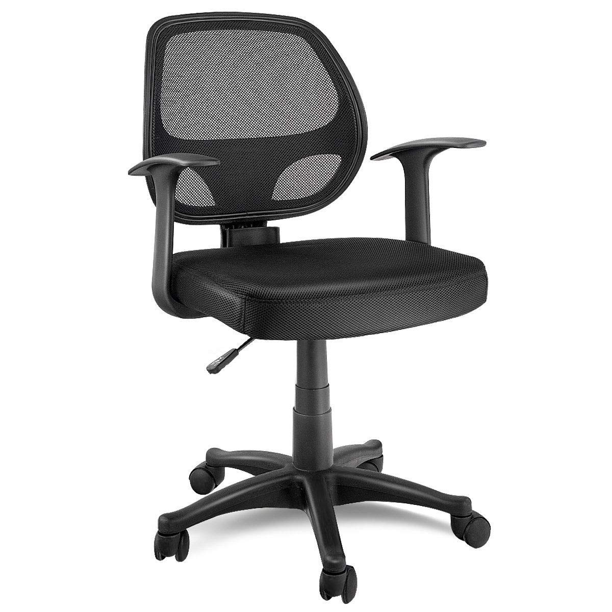 Giantex Mid Back Task Office Chair Mesh Chair Adjustable Seat Height Ergonomic Swivel Computer Desk Chair Executive Office Chair Black Home Kitchen Dprd Tasikmalayakab Go Id