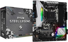 ASRock B450M STEEL LEGEND Socket AM4/ AMD Promontory B450/ DDR4/ Quad