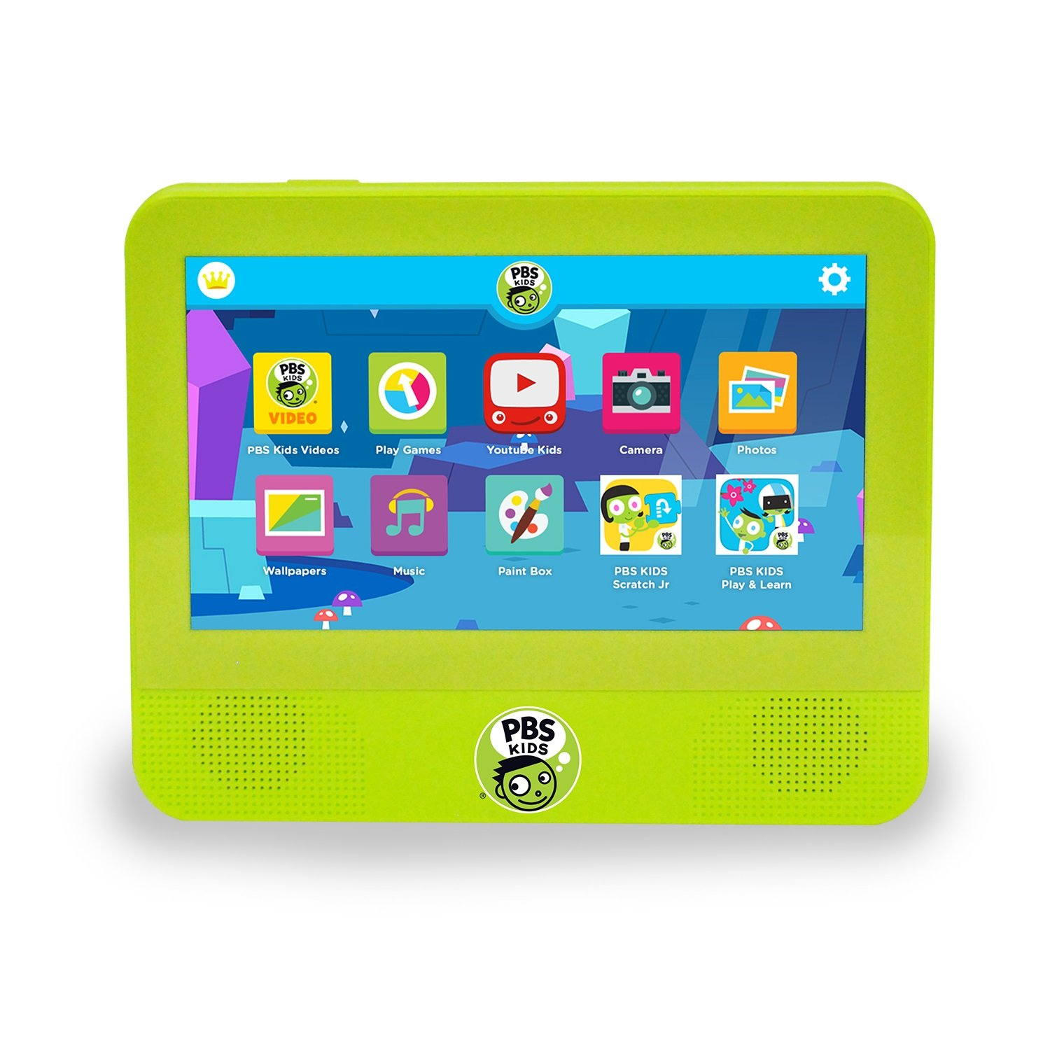 The PBS KIDS Playtime Tablet DVD Player comes preloaded with over 23 educational games and 120 video clips, songs, and music videos that all teach reading, math, and more. Expand your viewing power by playing your kids favorite DVDs on the Playtime Tablet DVD Player. Parental controls let you manage and customize your child's experience. With Google Play, you can access over 1 million applications and games along with access to thousands of movies, books, songs, TV shows, and magazines. 100% of the net proceeds PBS KIDS receives from all purchases of the PBS KIDS Playtime Tablet DVD Player helps encourage all children to discover who they are and what they can do.