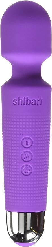 Shibari Mini Halo 20X Multi-Speed Wireless Power Wand Massager, Purple