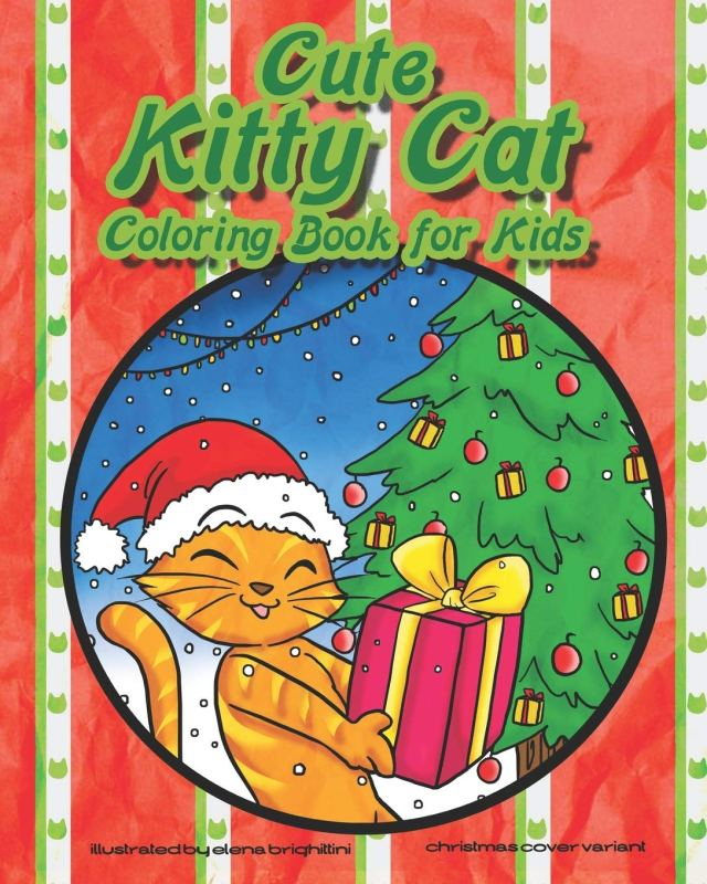 Cute Kitty Cat Coloring Book for Kids: Cat and Kitten Coloring