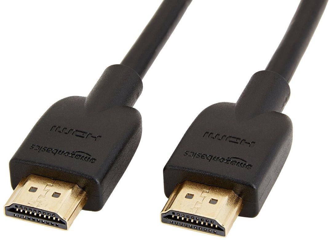 AmazonBasics Câble HDMI 2.0 haut débit Compatible Ethernet / 3D / retour audio [Nouvelles normes] 0,9m