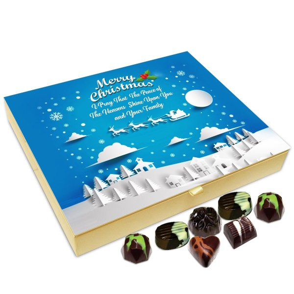 Chocholik Christmas Gift Box – Merry Christmas Make It A December to Remember Chocolate Box – 20pc