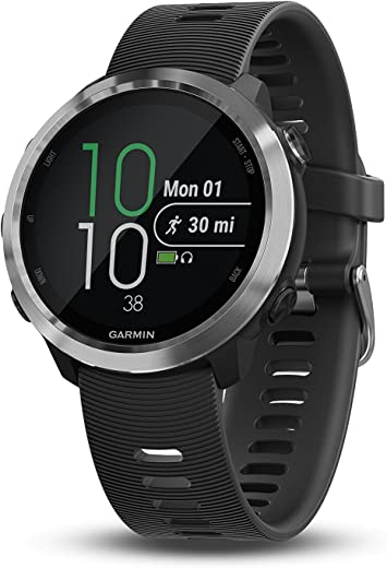 Garmin 010-01863-00 Forerunner 645, GPS Running Watch with Pay Contactless Payments and Wrist-Based Heart Rate, Black, 1.2""