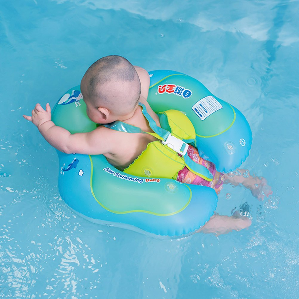 Free Swimming Baby Baby Inflatable Swimming Float Ring Children Waist Float Ring Inflatable Floats Pool Toys Swimming Pool Accessories for the Age of 6-30month (L)