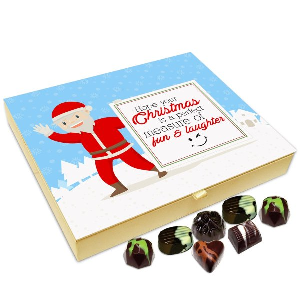 Chocholik Christmas Gift Box – Hope This Christmas is Perfect Measure of Fun and Laughter Chocolate Box – 20pc