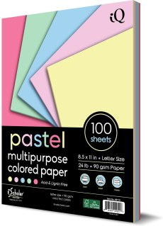 iQ Multipurpose Pastel Colored Copy Paper