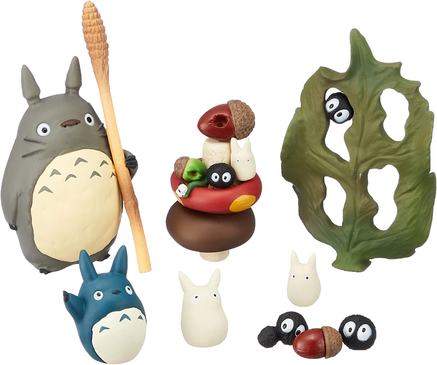Amazon Com Studio Ghibli Via Bluefin Ensky My Neighbor Totoro Assortment Stacking Figure Official Studio Ghibli Merchandise Toys Games