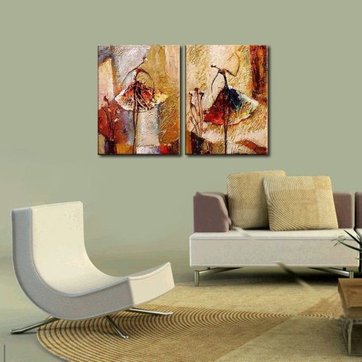 Com Wieco Art Ballet Dancers 2 Piece Modern Decorative Artwork 100 Hand Painted Contemporary Abstract Oil Paintings On Canvas Wall Ready To