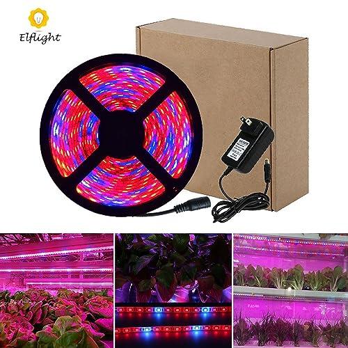 Elflight LED Plant Grow Strip Light 5050 Waterproof Full Spectrum Red Blue 4:1 Growing Lamp